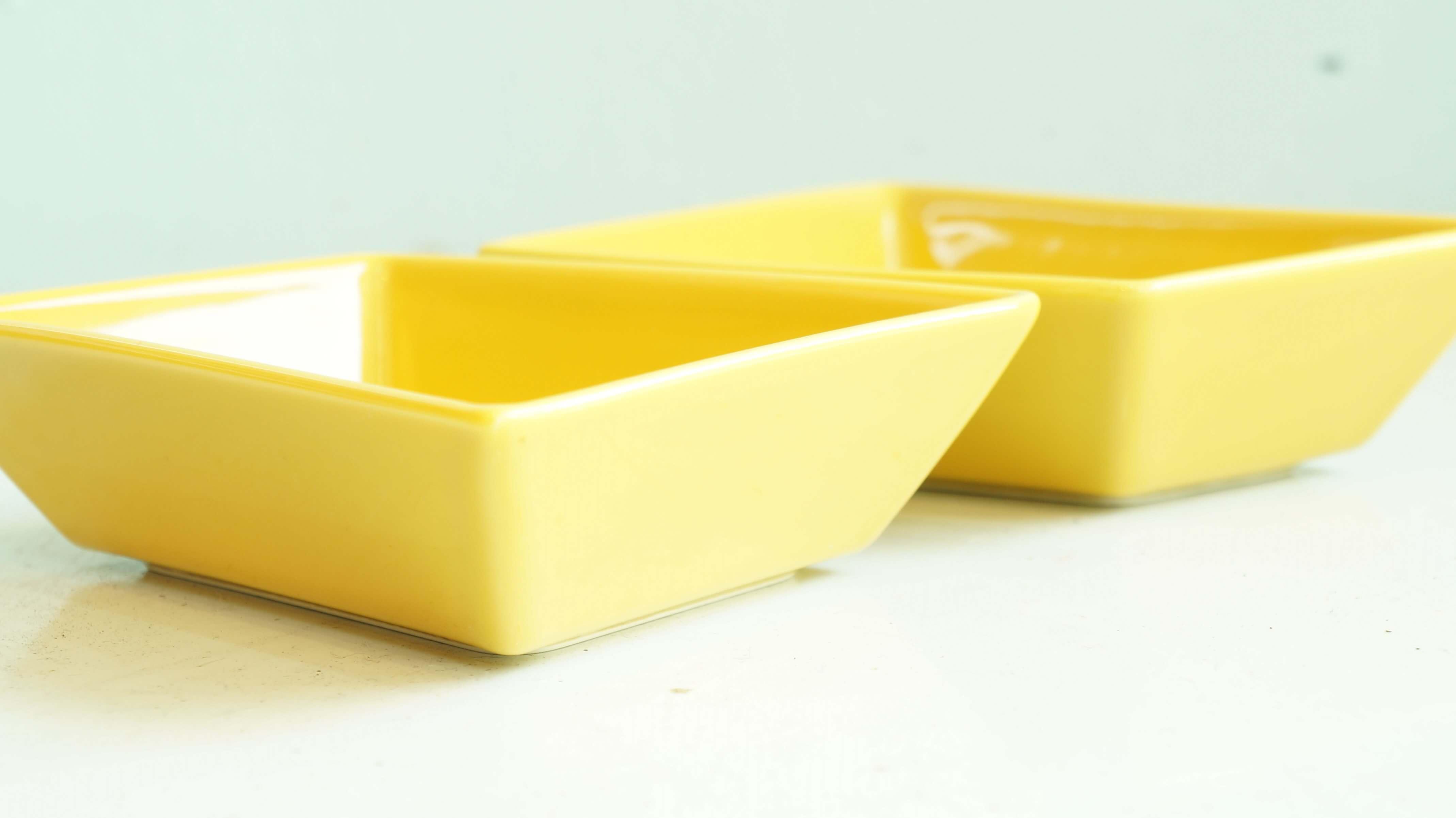 """ARABIA """"ABC"""" plate yellow M size designed by Pekka Harni/アラビア """"ABC"""" プレート イエロー Mサイズ ペッカ・ハルニ デザイン"""