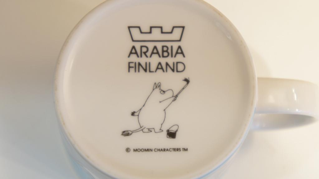 """ARABIA FINLAND MOOMIN MAG """"Moomin"""" / アラビアフィンランド ムーミンマグ """"ムーミン"""""""
