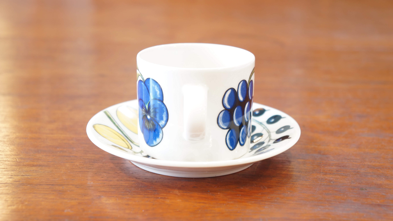 """ARABIA """"Paratiisi"""" coffee cup&saucer color/アラビア """"パラティッシ"""" コーヒーカップ&ソーサー カラー"""