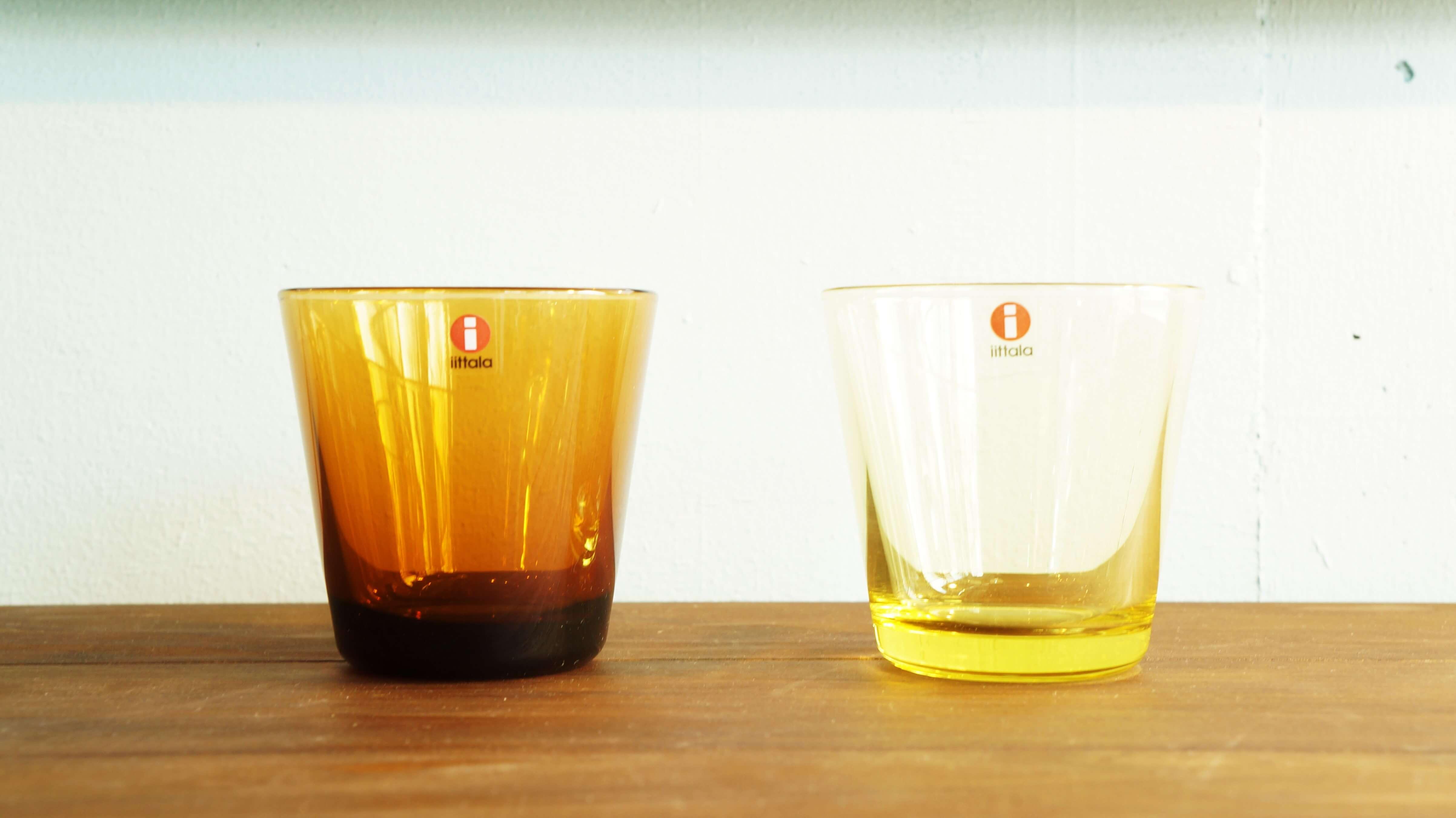 "iittala ""Kartio"" Tumbler designed by Kaj Franck lemon yellow & copper/イッタラ ""カルティオ"" タンブラー カイ・フランク デザイン レモンイエロー&コッパー"