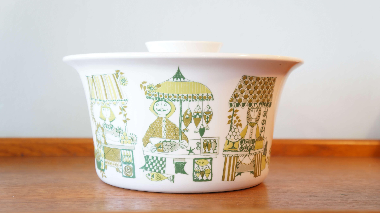 "Figgjo casserole ""market"" designed by Turi Gramstad Oliver Norway/フィッギオ ""マーケット"" キャセロール トゥーリ・グラムスタッド・オリヴェル デザイン ノルウェー"