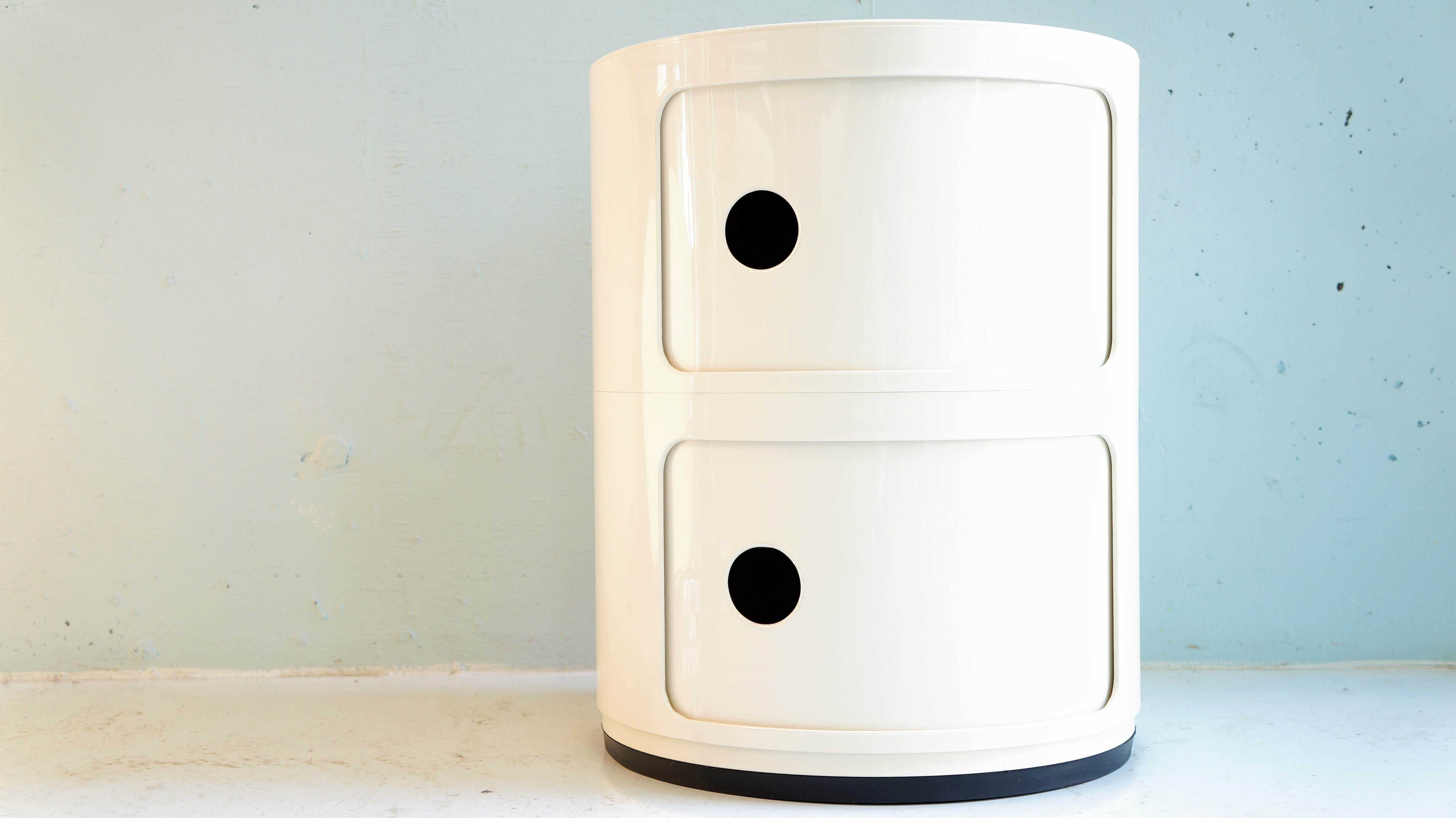 Kartell componibili 2 white designed by Anna Castelli Ferrieri/カルテル コンポニビリ2 白 アンナ・カステッリ・フェリエーリ デザイン