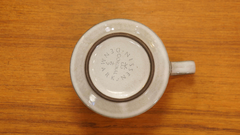 "Nissen ""Cordial"" cup&saucer gray/ニッセン ""コーディアル"" カップ&ソーサー グレー"