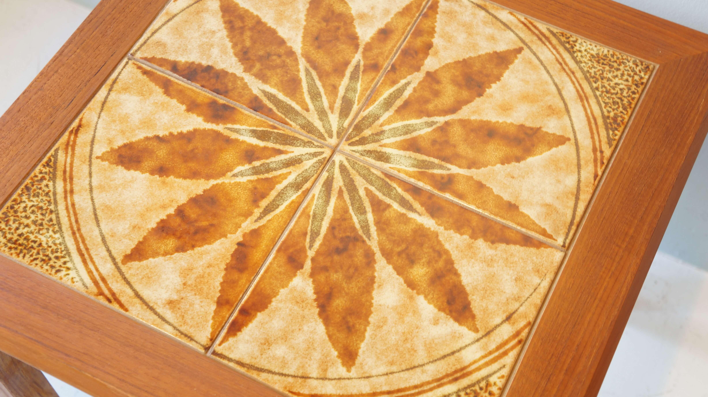 Danish Vintage Toften Tile Top Table / ヴィンテージ タイルトップ サイドテーブル デンマーク製