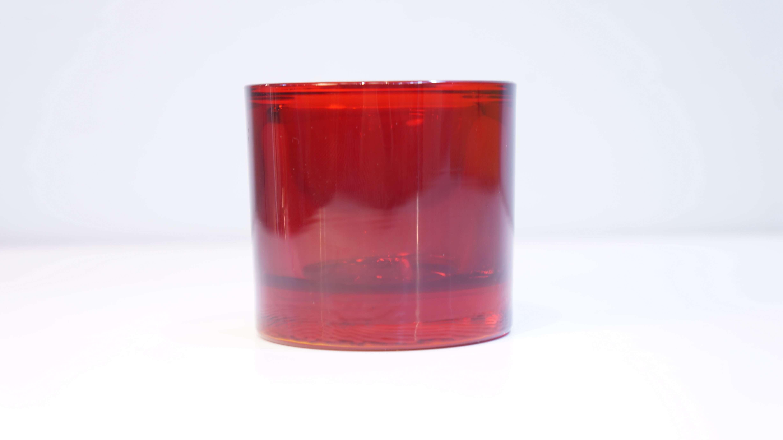 iittala × marimekko Candle Holder ≪Kivi≫ Cranberry Red & Frost / イッタラ マリメッコ コラボ キャンドル ホルダー キビ クランベリーレッド アンド フロスト