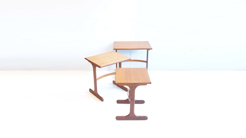 UK VINTAGE E GOMME G PLAN SERIES NEST TABLE / イギリス ビンテージ ジープラン ネスト テーブル