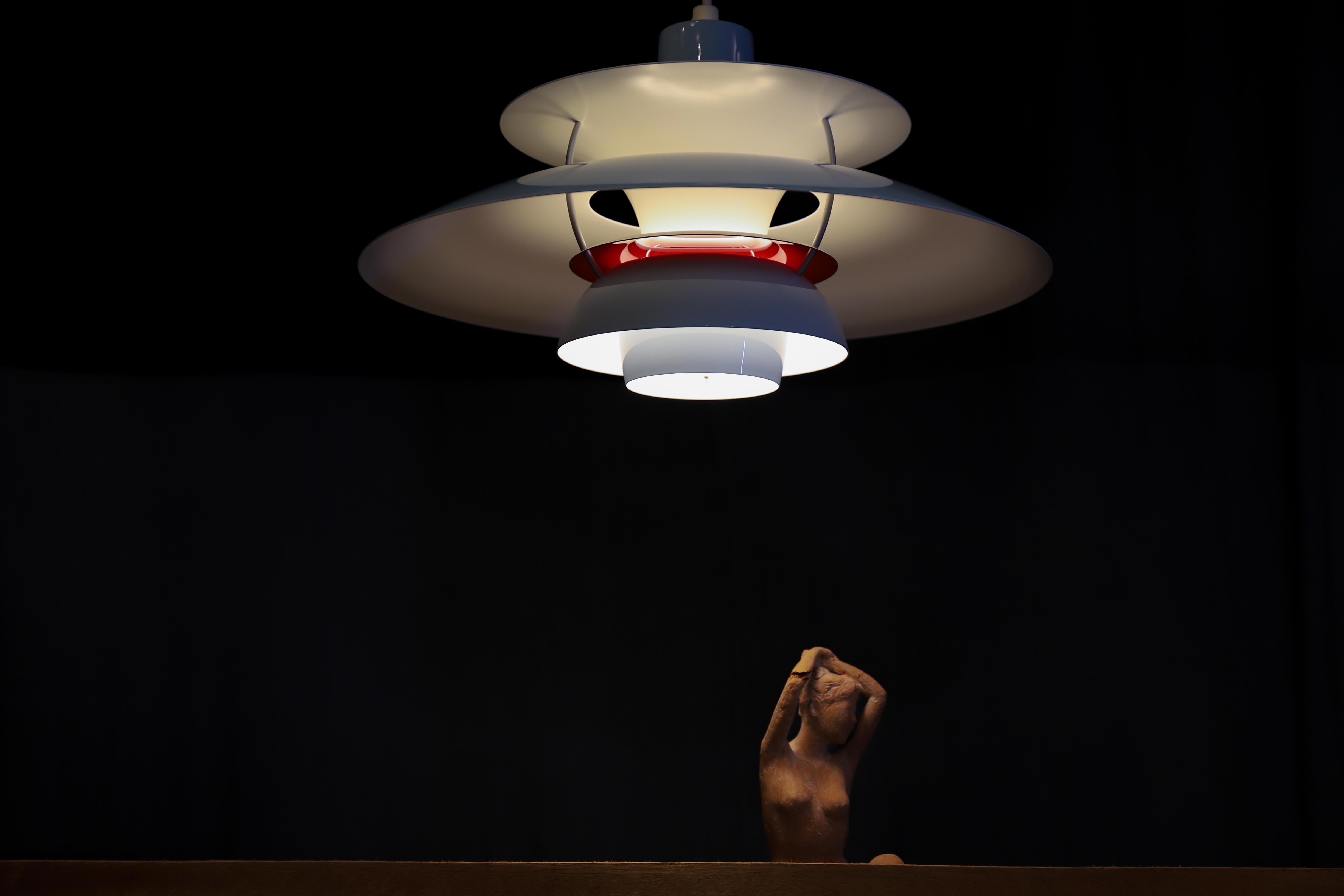 LOUIS POULSEN PENDANT LIGHT PH50 MINT BLUE