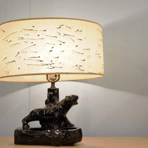 1950's US vintage Black Panther Table Lamp / 1950年代 アメリカ ビンテージ ブラックパンサー テーブルランプ