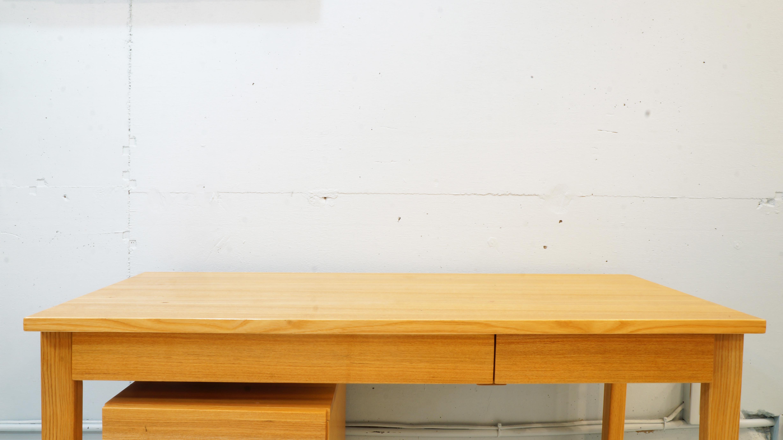MUJI ASH WOOD PERSONAL DESK&CABINET / 無印良品 パーソナルデスク キャビネット付き タモ材 廃盤