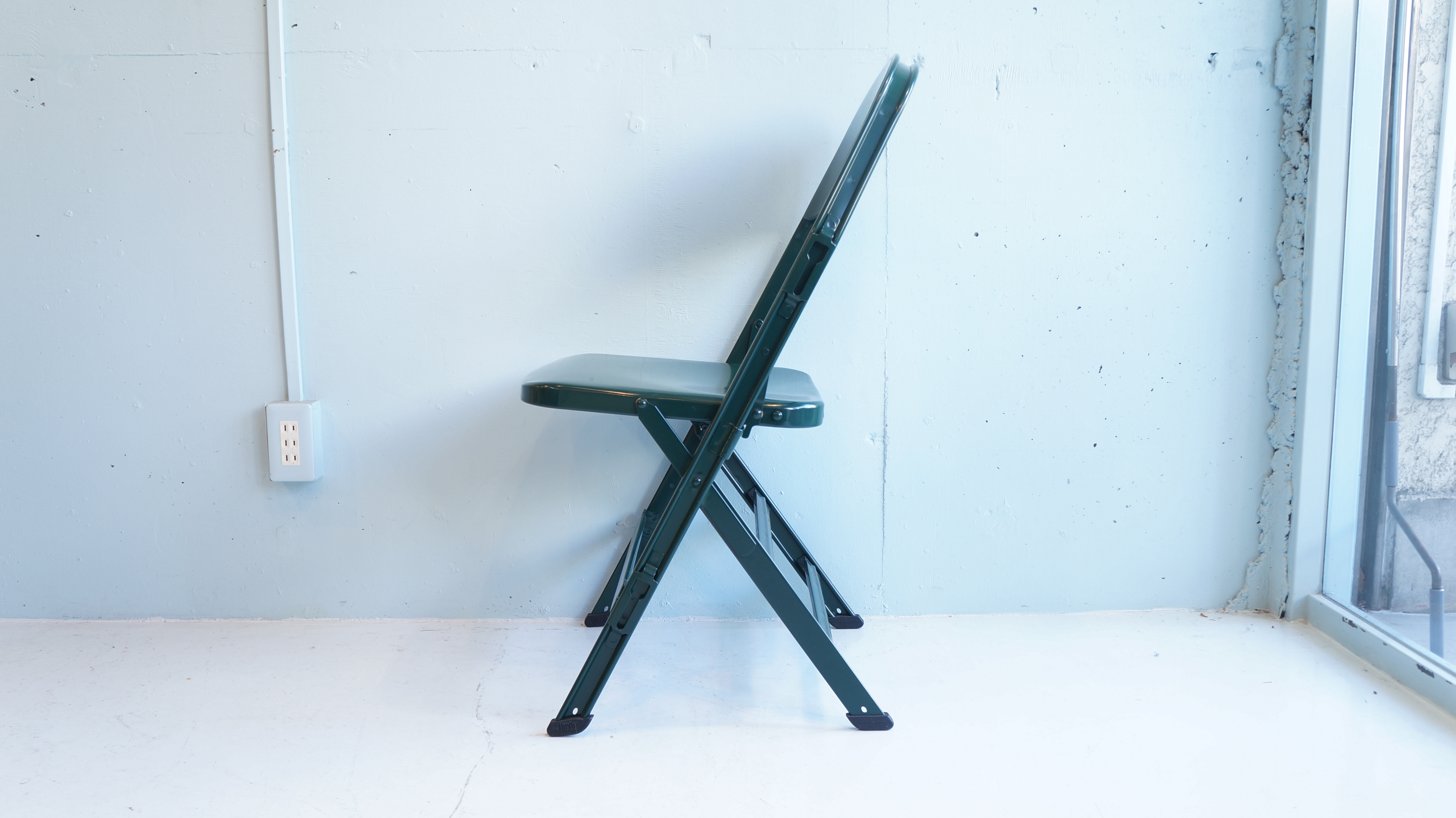 PACIFIC FURNITURE SERVICE ALL STEEL FOLDING CHAIR made by CLARIN USA / パシフィックファニチャーサービス クラリン社製 オールスチール フォールディングチェア アメリカ製