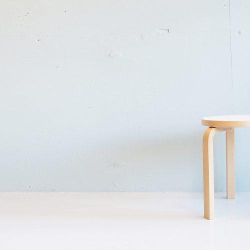 altek STOOL 60 LAMINATE WHITE design by Alvar Aalto / アルテック スツール60 アルヴァ・アアルト デザイン スツール