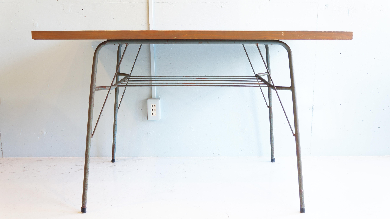 古材 鉄脚 テーブル インダストリアル ウッド アイアンのお買取をいたしました。