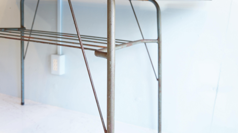 OLD MATERIALS WOOD & IRON LEG TABLE / 古材 鉄脚 テーブル インダストリアル ウッド アイアン