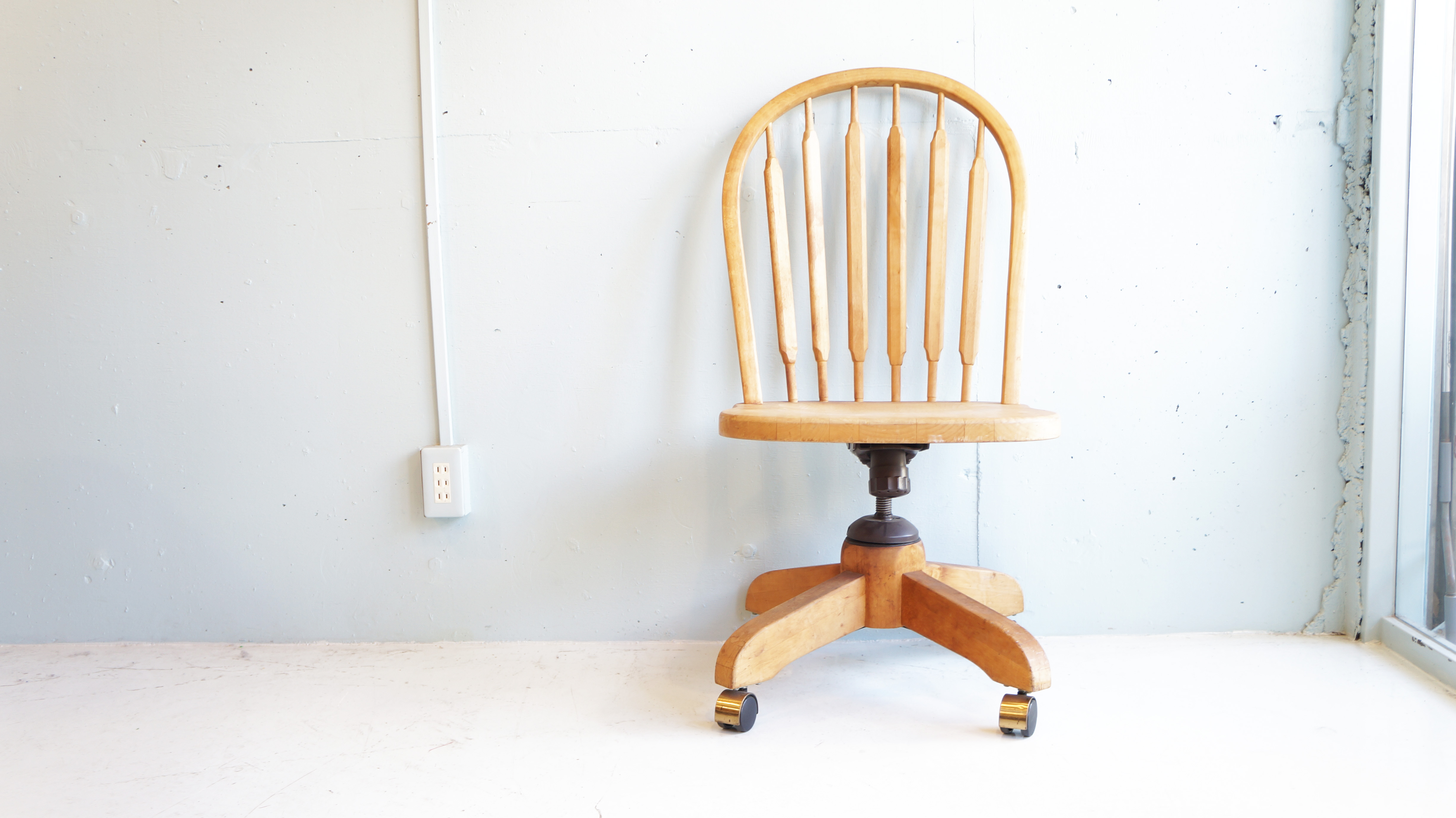 CASTER CHAIR MADE IN CANADA NATURAL STYLE / カナダ製 キャスター チェア ナチュラルインテリア 無垢材