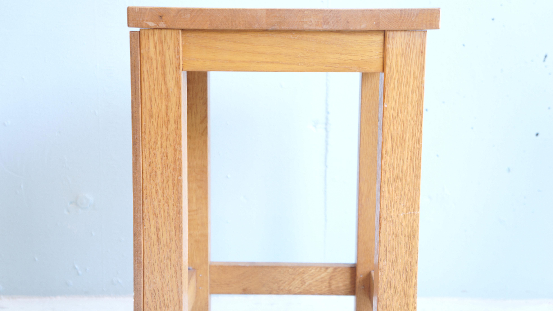 Japanese Drawing and Manual Arts Room Stool / 図工室 椅子 スツール インダストリアル ナチュラルインテリア 学校椅子