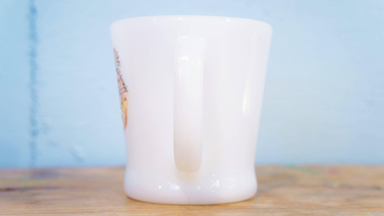 "Fire-King mug cup ""Esso Tiger"" D-handle 60's us vintage/ファイヤーキング マグカップ ""エッソタイガー"" Dハンドル 60年代アメリカヴィンテージ"