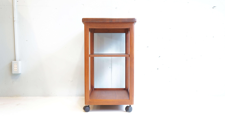 Japan vintage AOBAYASHI SEISAKUJO teak wood wagon kitchen trolley/ジャパンビンテージ 青林製作所 チークウッド ワゴン キッチントロリー