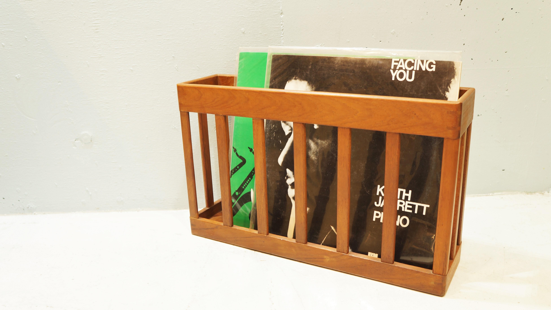teak wood magazine rack Danish modern/チークウッド マガジンラック 北欧 デンマーク モダン