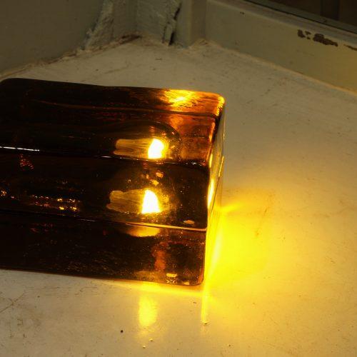 DESIGN HOUSE BLOCK LAMP amber designed by Harri Koskinen/デザインハウス ブロックランプ アンバー ハッリ・コスキネン デザイン