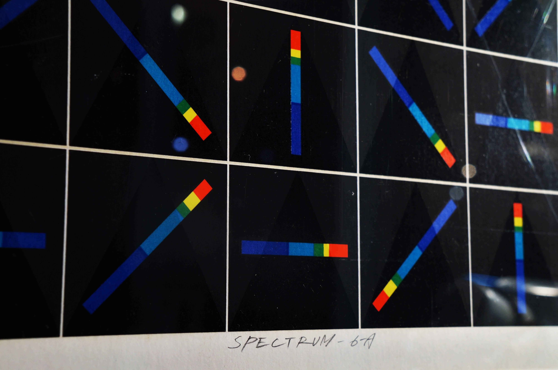 中山隆右 シルクスクリーン 〔分光-6-A〕SPECTRUMスペクトラム 幾何学ART