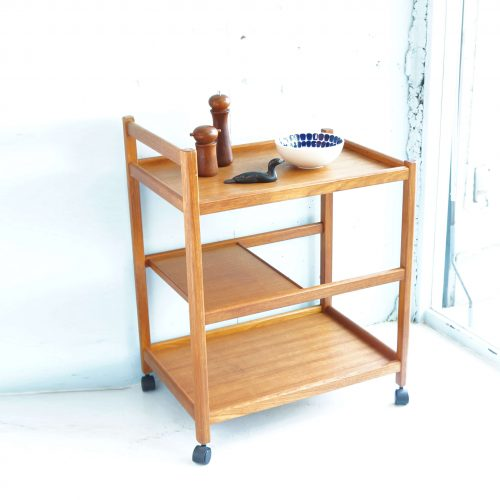 Vintage Teak Wood Wagon / ヴィンテージ チーク材 ワゴン 北欧スタイル