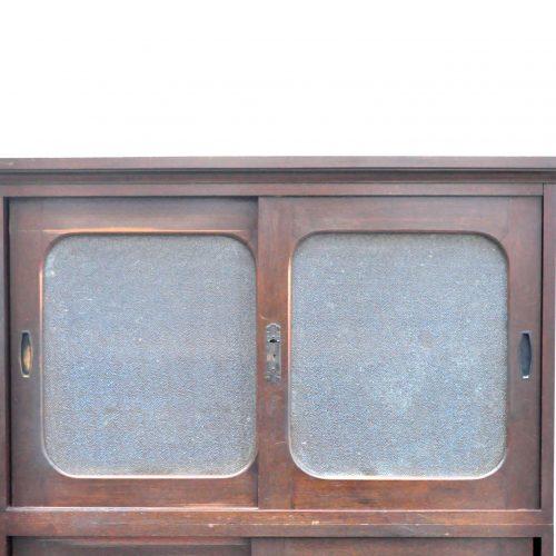 JAPAN VINTAGE GLASS CABINET RETRO STYLE / レトロ ガラスキャビネット 食器棚