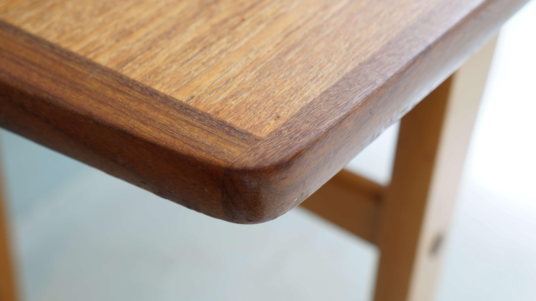 US VINTAGE TEAK WOOD LOW TABLE / アメリカ製 ビンテージ チーク天板 ローテーブル
