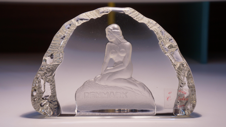 Crystalex Crystal Little Mermaid Paperweight Handmade Sweden / クリスタレックス 人魚のペーパーウェイト スウェーデン製