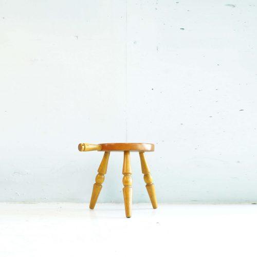 HIDA SANGYO MILK STOOL / 飛騨産業 ミルクスツール キツツキマーク