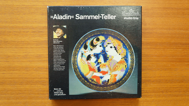 "Rosenthal studio-linie ""Aladdin und die Wunderlampe"" plate No.12 designed by Bjorn Wiinblad/ローゼンタール スタジオライン ""千夜一夜物語"" プレート No.12 ビョルン・ヴィンブラッド デザイン"