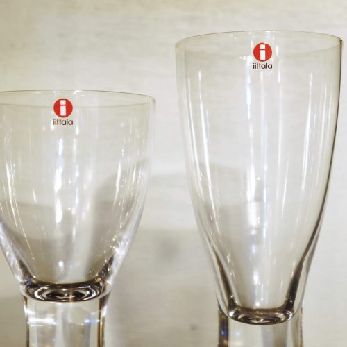 "iittala pair glass ""Tapio"" Goblet&Red wine/イッタラ ペアグラス ""タピオ"" ゴブレット&レッドワイン"