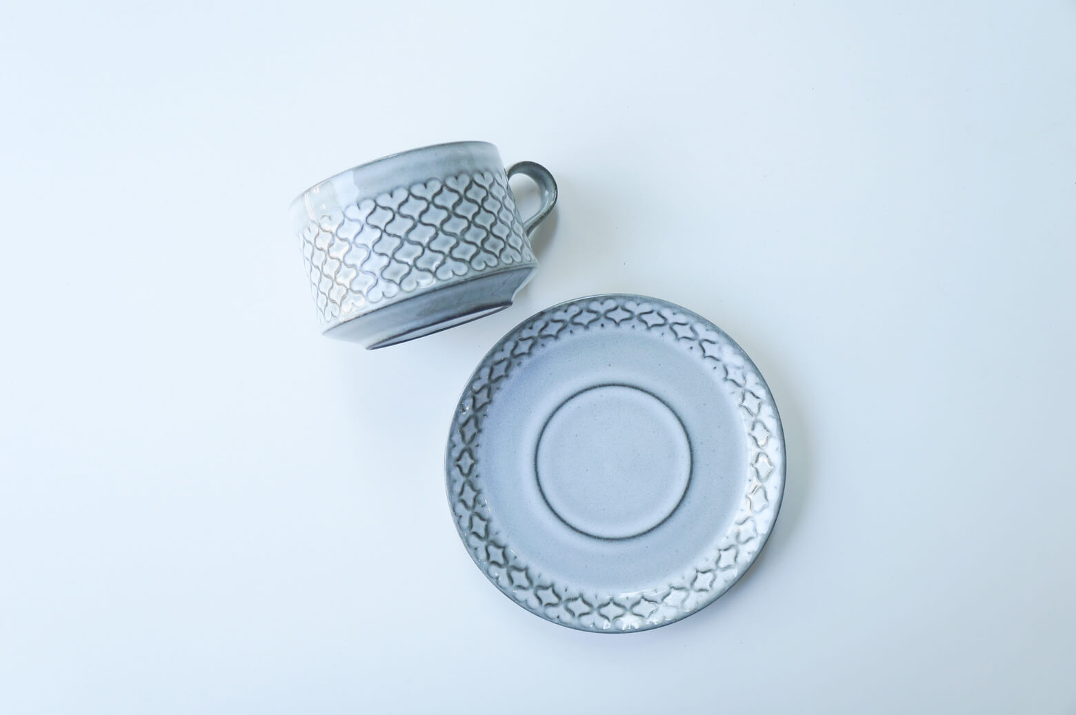 "Nissen ""Cordial"" cup&saucer gray/ニッセン ""コーディアル"" カップ&ソーサー グレー"