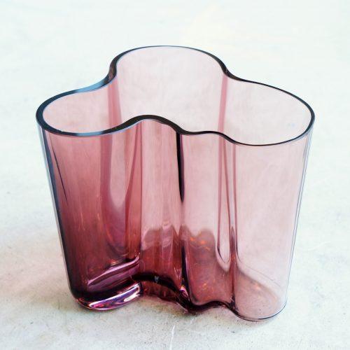 iittala Alvar Aalto Collection Vase 95mm purple/イッタラ アルヴァ・アアルト コレクション ベース 95mm パープル