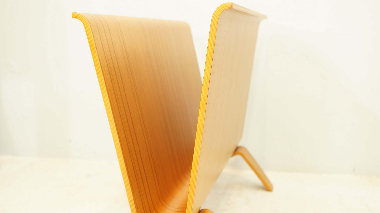 SAITO WOOD magazine rack teak grain/サイト-ウッド マガジンラック チーク プライウッド