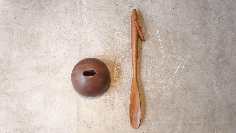 cosine shoehorn&stand walnut/コサイン 靴ベラ スタンド セット ウォールナット