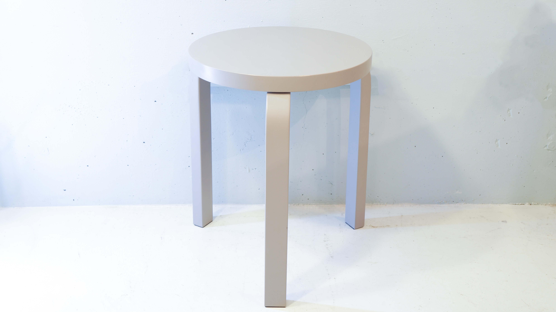 artek/アルテックスツール 椅子 STOOL 60 Alvar Aalto/アルヴァ アアルト グレー ラッカー
