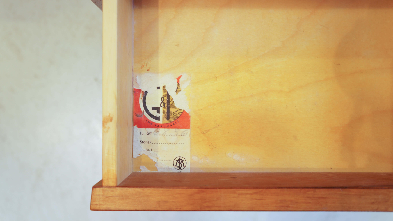 "Swedish Vintage ""Glas&Tra Hovmantorp"" Side Chest Table/スウェーデン ヴィンテージ サイドチェストテーブル"