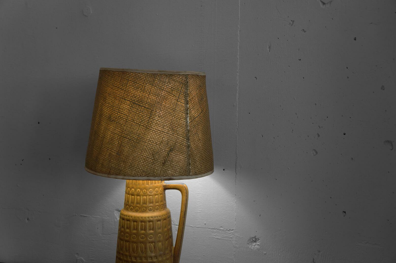 VINTAGE CERAMIC BASE TABLE LUMP MADE IN WEST GERMANY/ 西ドイツ製 ビンテージ セラミック ベース テーブル ランプ