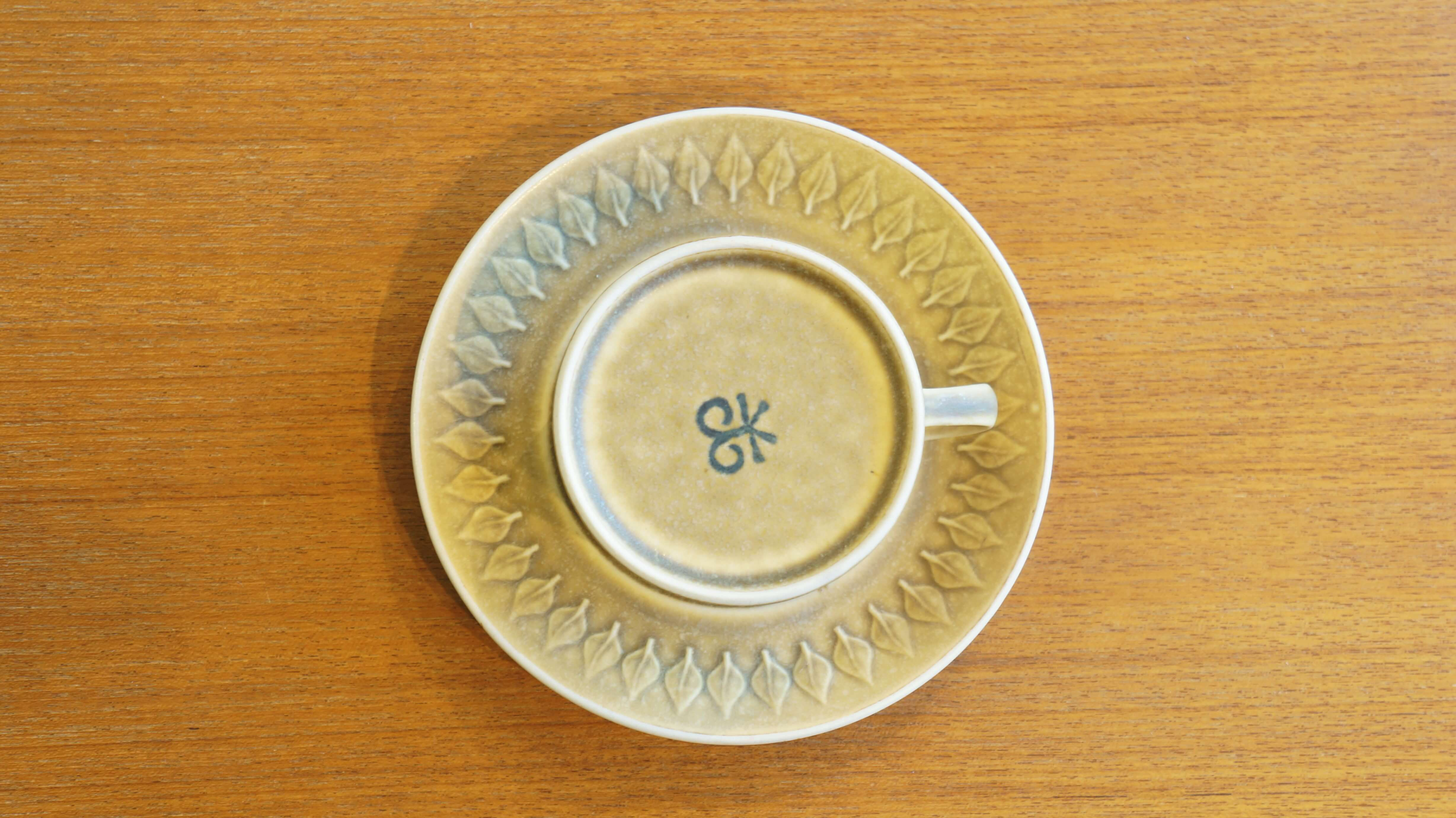 """Kronjyden """"relief"""" teacup&saucer/クロニーデン """"レリーフ"""" ティーカップ&ソーサー"""