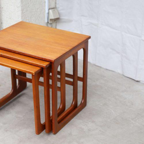 UK Vintage Mcintosh Nest Table 英国 マッキントッシュ ネストテーブル コーヒーテーブル チーク イギリス