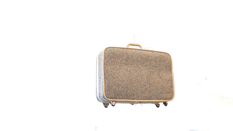 SKY WAY TWEED TRAVEL BAG TRUNK / スカイウェイ ツィード 旅行鞄 トランク