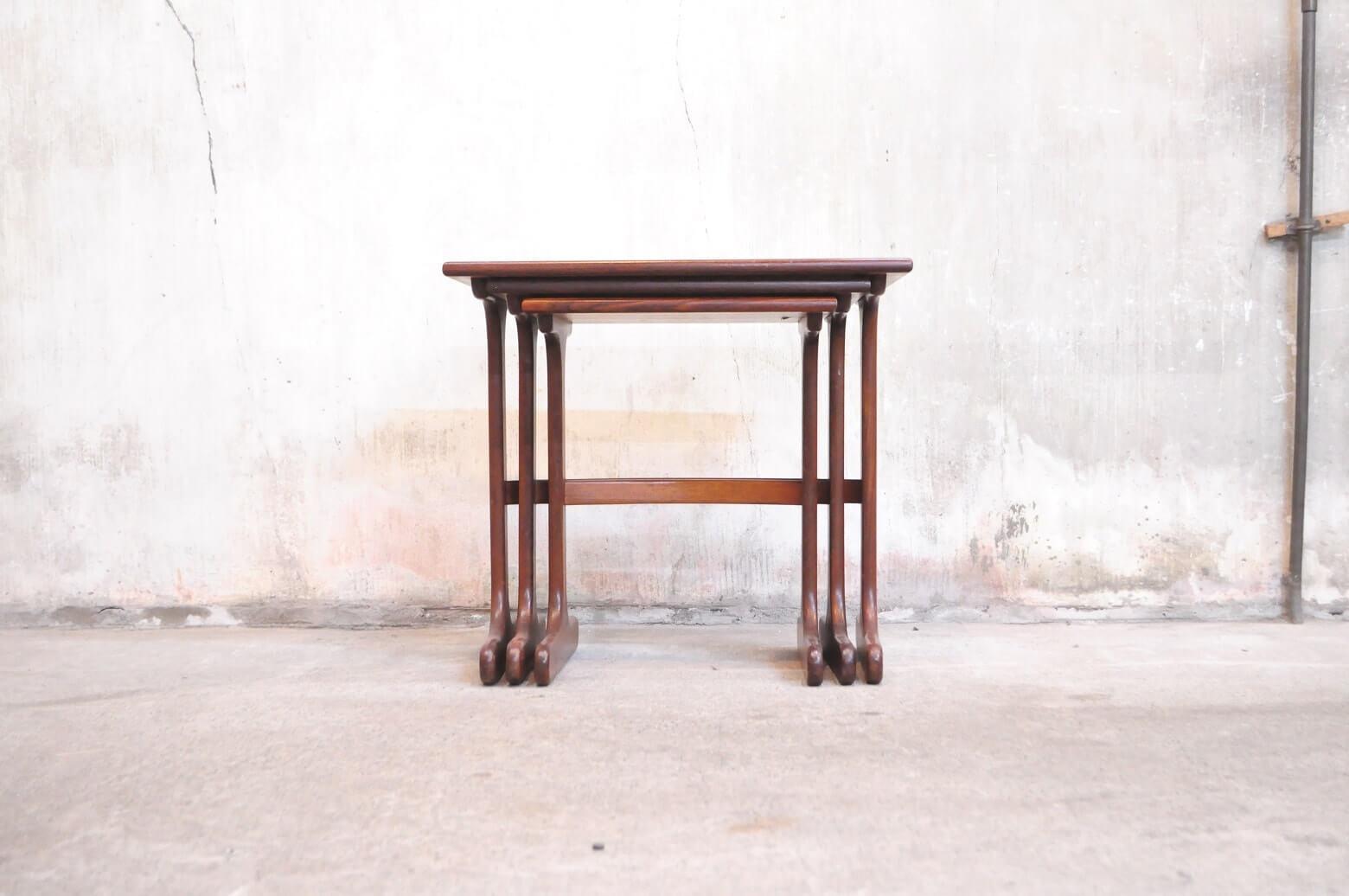 UK VINTAGE E GOMME G PLAN SERIES NEST TABLE / 英国 ビンテージ ジープラン ネスト テーブル