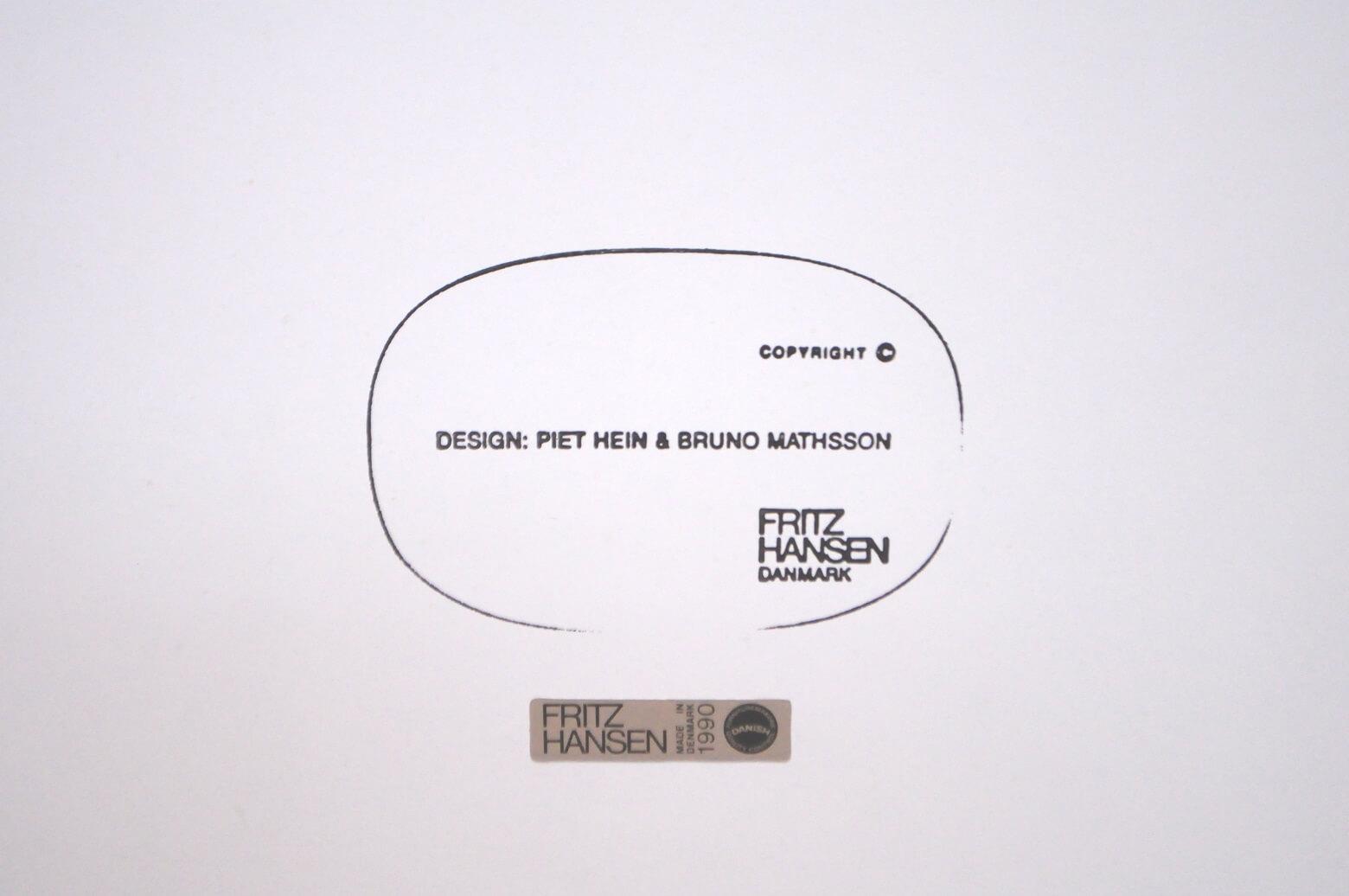 FRITZ HANSEN B TABLE WHITE COLOR DESIGN BY Piet Hein / フリッツハンセン スーパー楕円テーブル ホワイト ピート ハイン デザイン