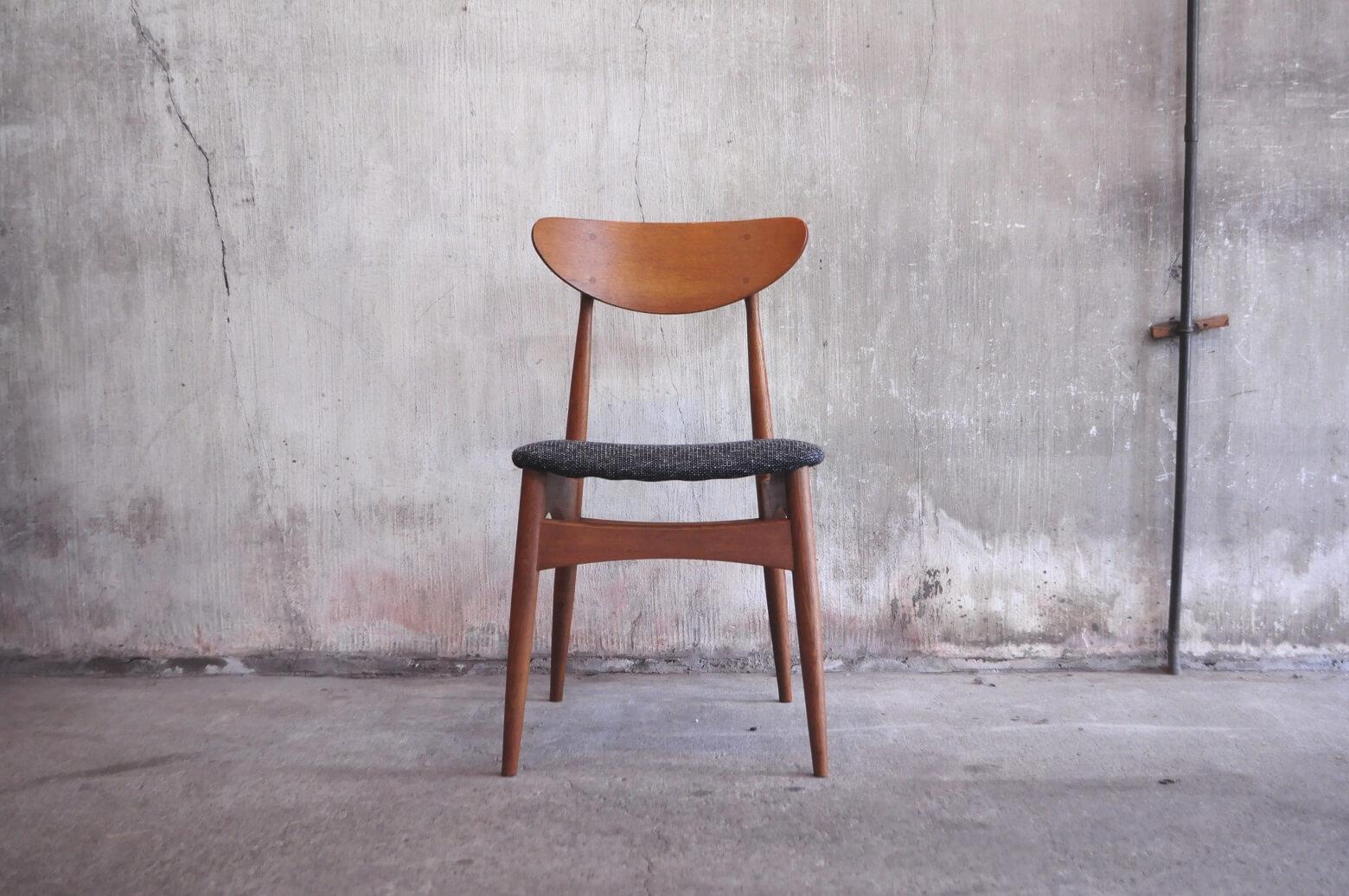 NAGANO INTERIOR Friendly Series Dining Chair DC326-1N REUPHOLSTERED / ナガノ インテリア ダイニング チェア 張り替え済み