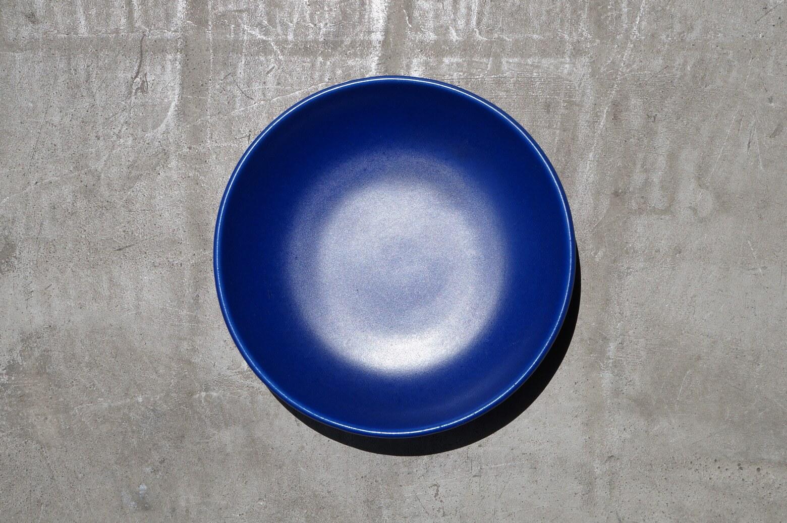 SILBERDISTEL FAYENSEN Blue Ornamental plate / 西ドイツ製 オーナメントプレート