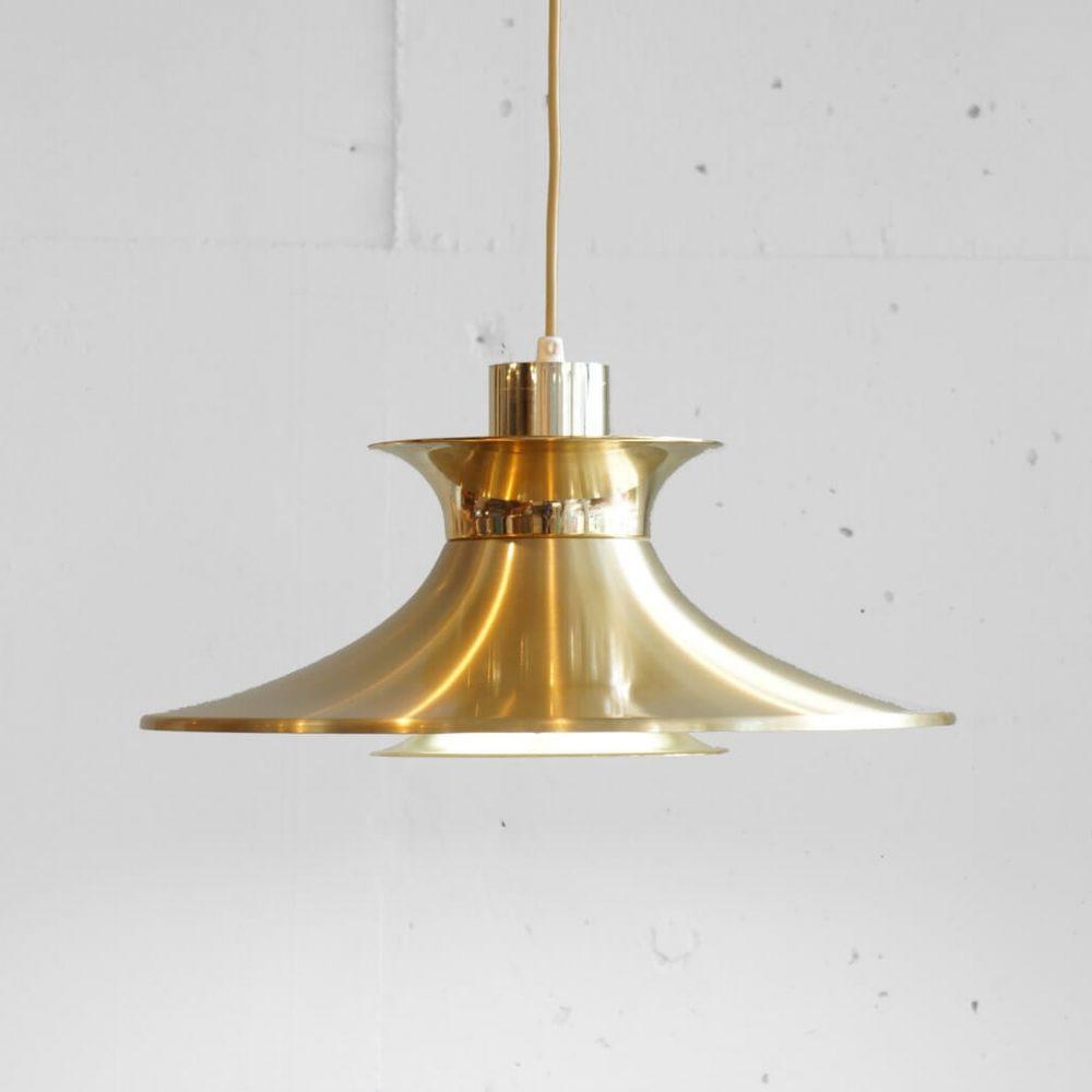 Danish Vintage Gold Plate Pendant Light/デンマークヴィンテージ ゴールドプレート ペンダントライト