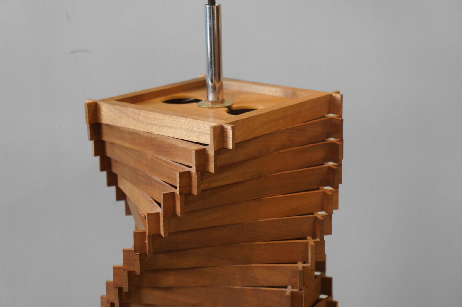 Spiral Wood Pendant Light/スパイラル 木製 ペンダントライト