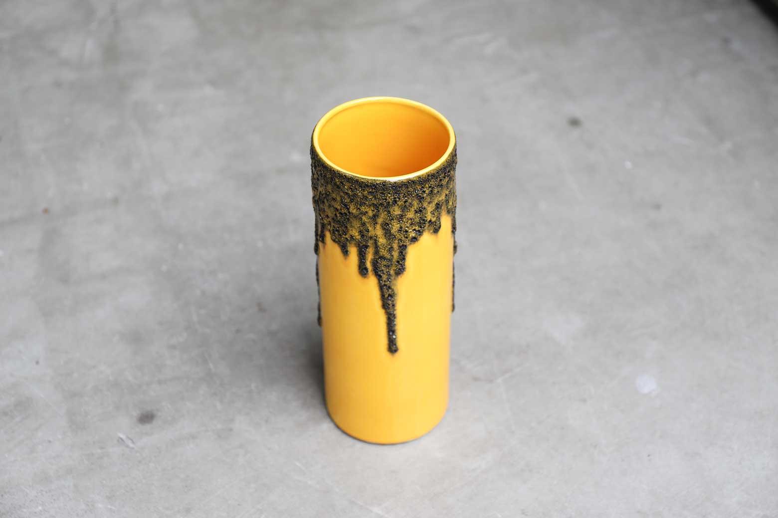 """W.Germany Riffarth Keramik """"Fat Lava"""" Flower Vase/西ドイツ リファース ケラミック """"ファット ラヴァ"""" 花瓶"""