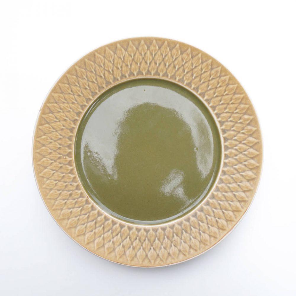 Kronjyden relief dinner plate 25cm 2 /クロニーデン レリーフ ディナープレート 25cm 2