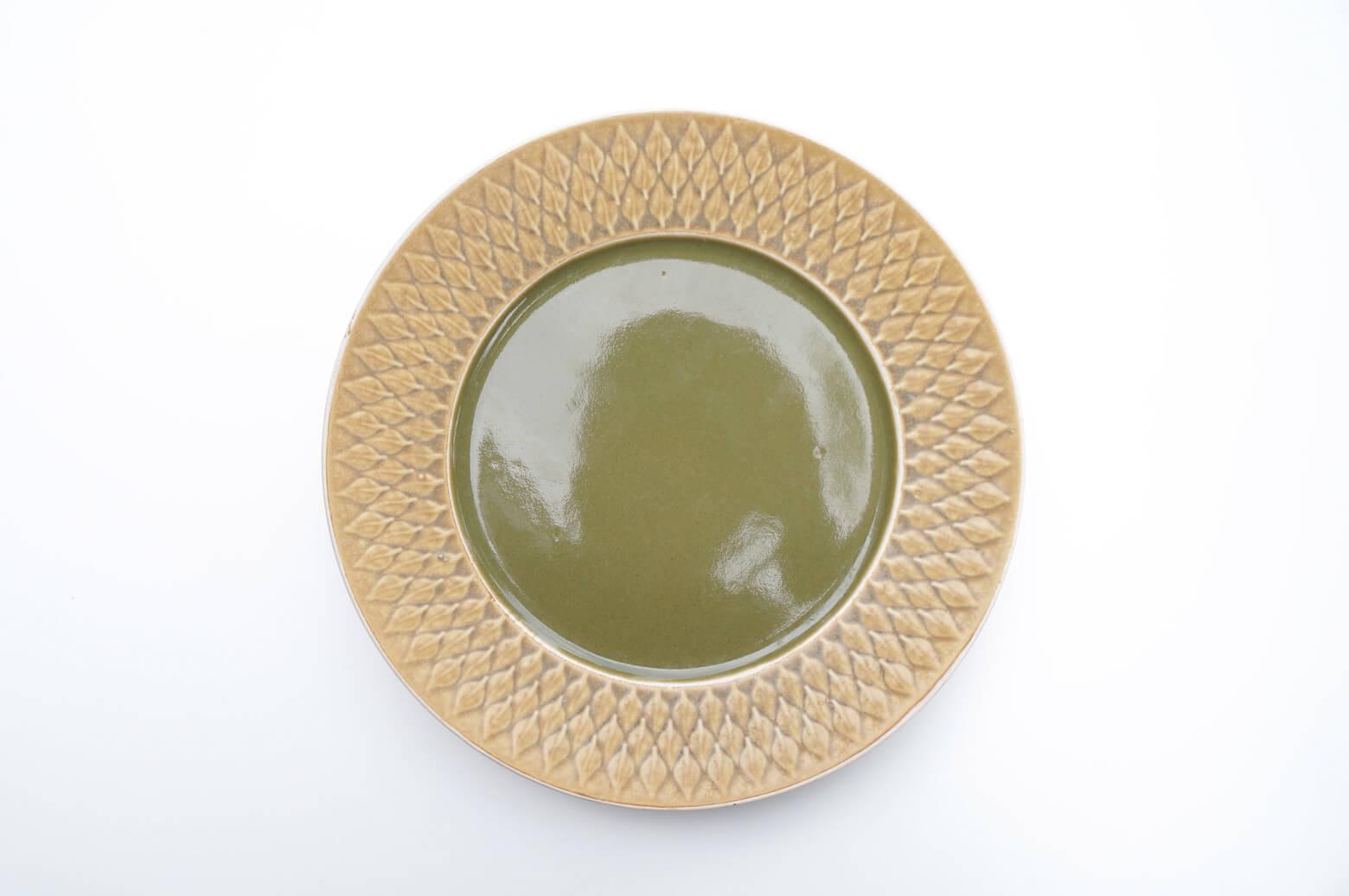 furuichi vintage secondhand kronjyden relief dinner plate 25cm